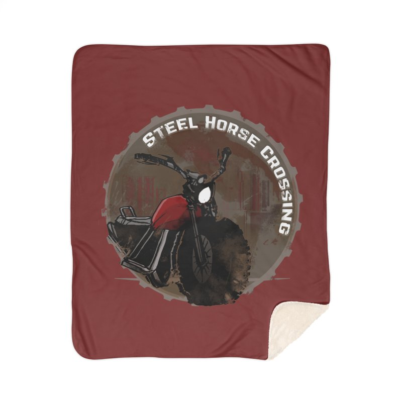 Wisconsin - Steel Horse Crossing Home Sherpa Blanket Blanket by Dystopia Rising's Artist Shop