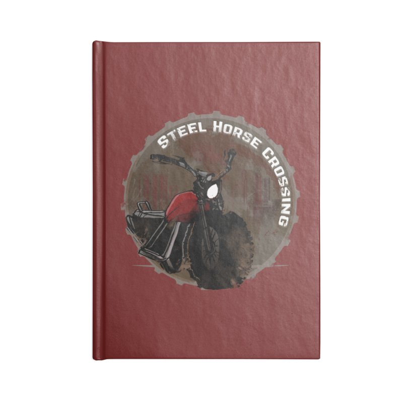 Wisconsin - Steel Horse Crossing Accessories Blank Journal Notebook by Dystopia Rising's Artist Shop