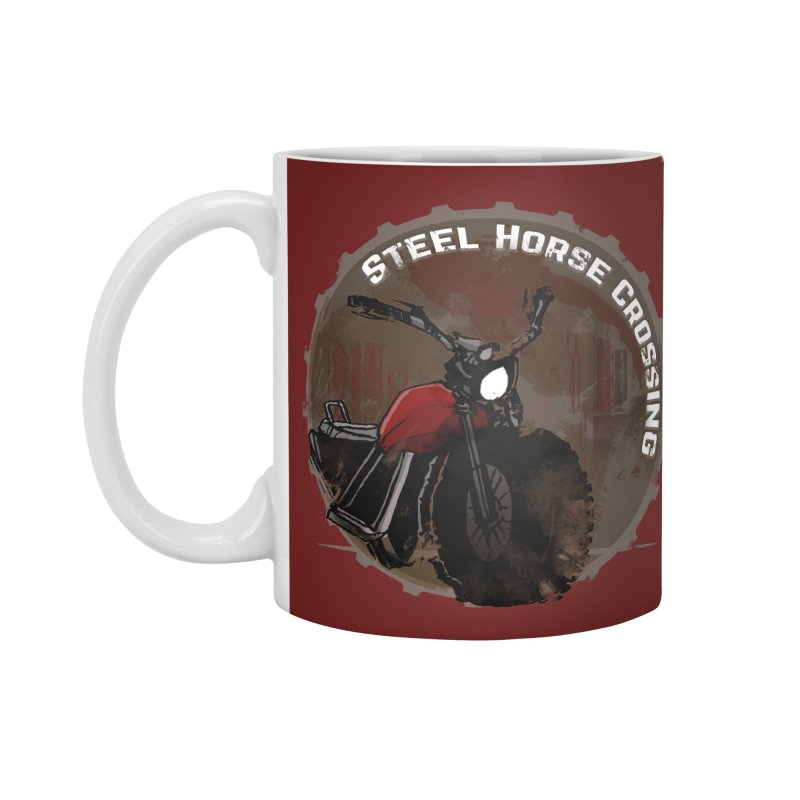 Wisconsin - Steel Horse Crossing Accessories Standard Mug by Dystopia Rising's Artist Shop