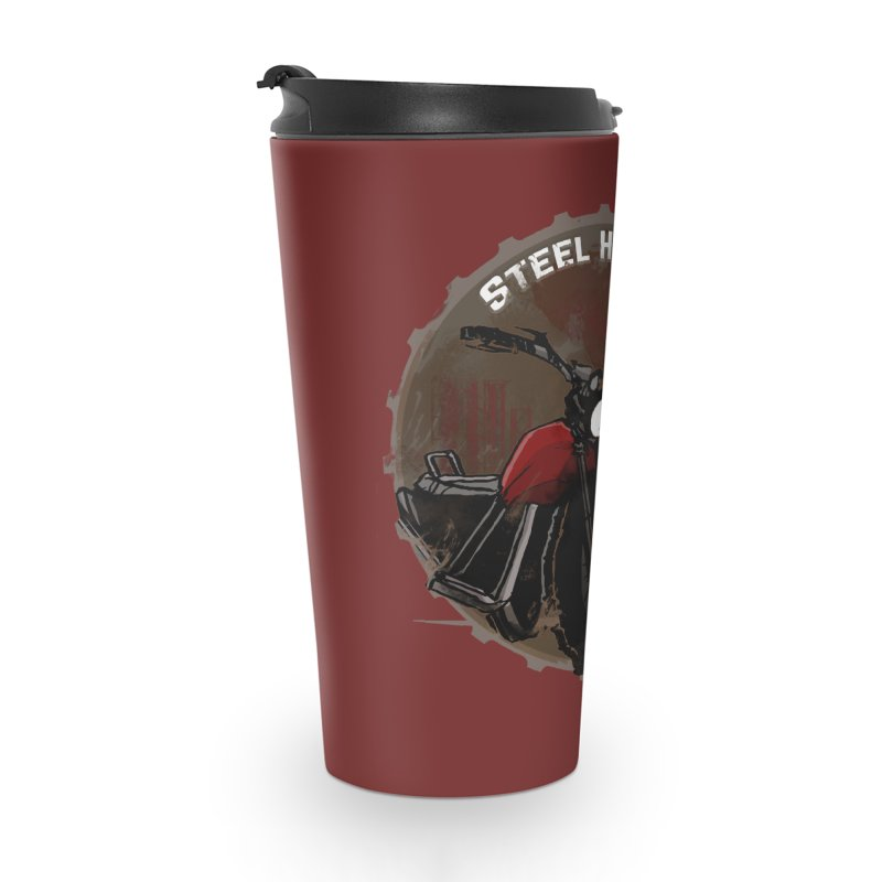 Wisconsin - Steel Horse Crossing Accessories Travel Mug by Dystopia Rising's Artist Shop