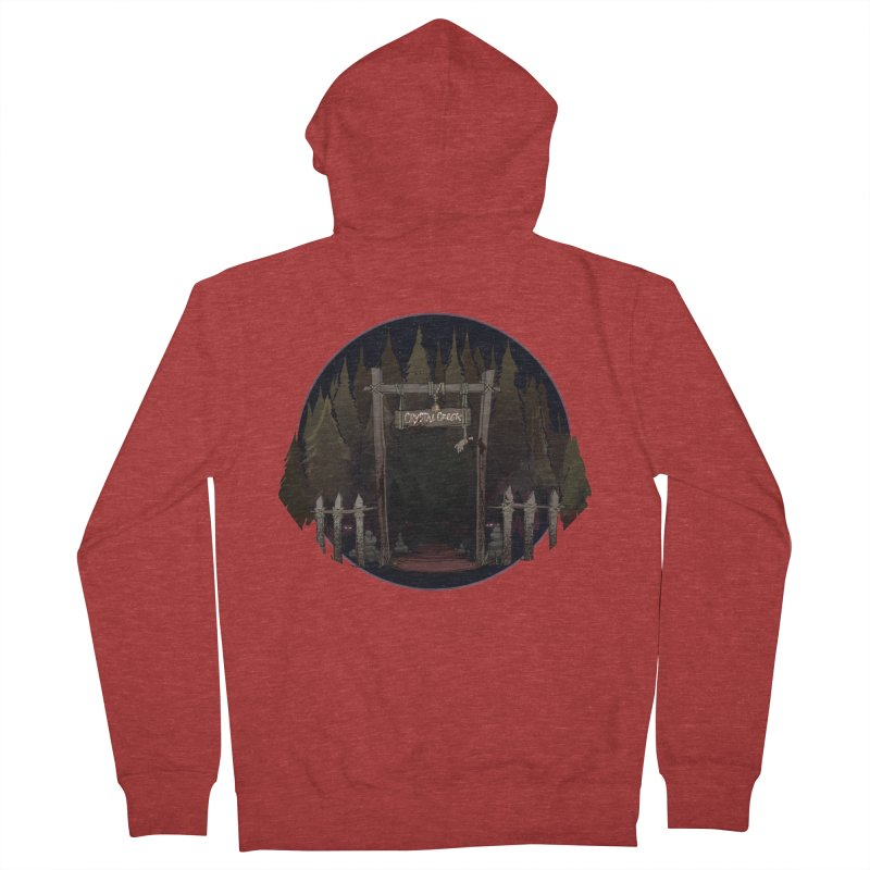 Arkansas - Crystal Creek Men's French Terry Zip-Up Hoody by Dystopia Rising's Artist Shop