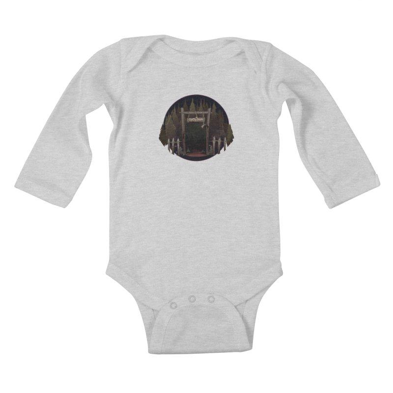 Arkansas - Crystal Creek Kids Baby Longsleeve Bodysuit by DystopiaRising's Artist Shop