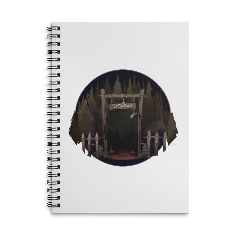 Arkansas - Crystal Creek Accessories Lined Spiral Notebook by Dystopia Rising's Artist Shop