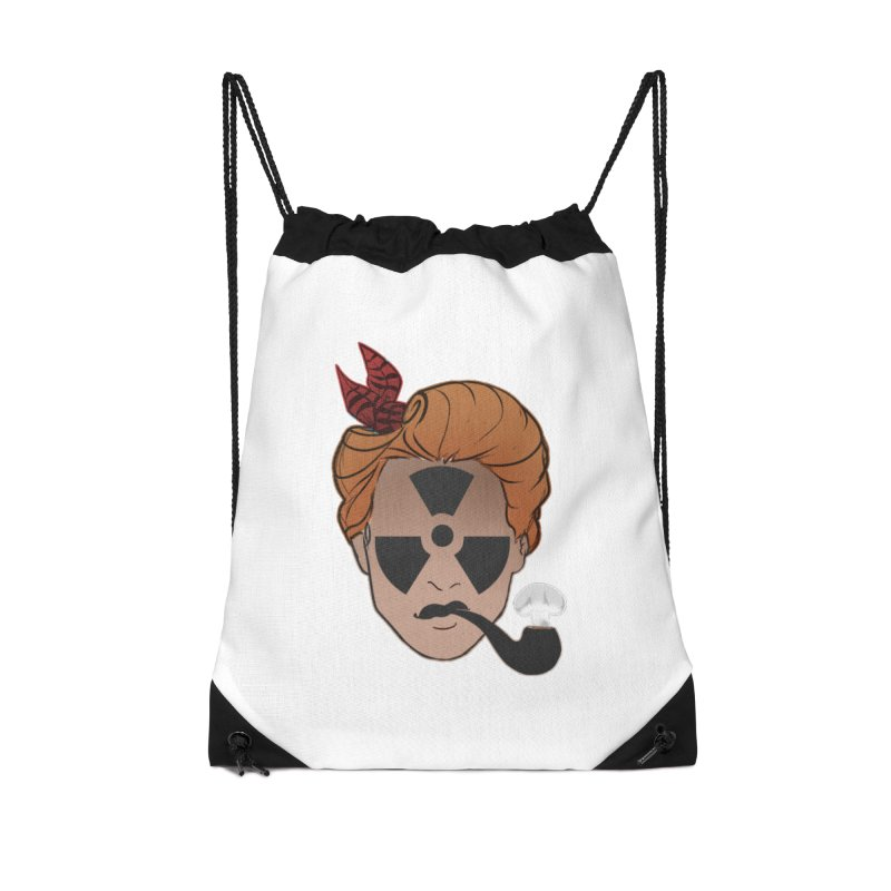 Nuclear Family Accessories Drawstring Bag Bag by Dystopia Rising's Artist Shop