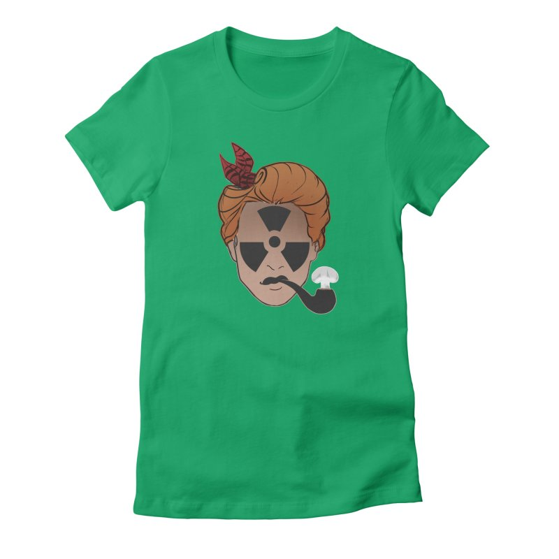 Nuclear Family Women's Fitted T-Shirt by DystopiaRising's Artist Shop