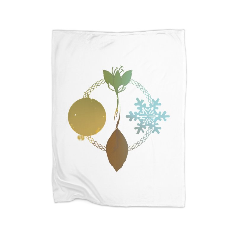 Tribes of the Seasons Home Fleece Blanket Blanket by Dystopia Rising's Artist Shop