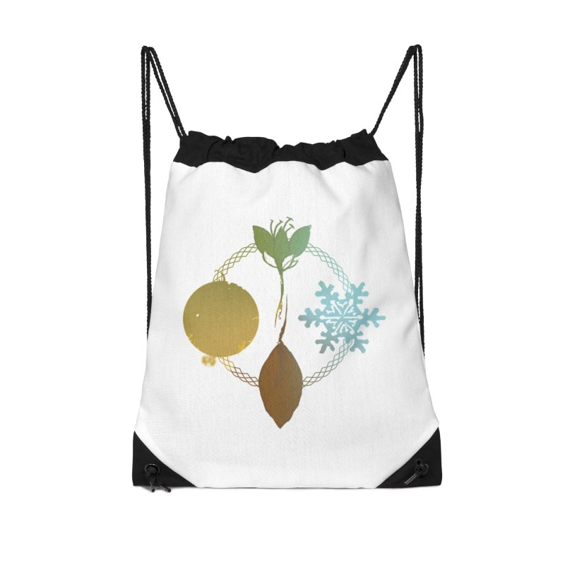 Tribes of the Seasons Accessories Drawstring Bag Bag by Dystopia Rising's Artist Shop