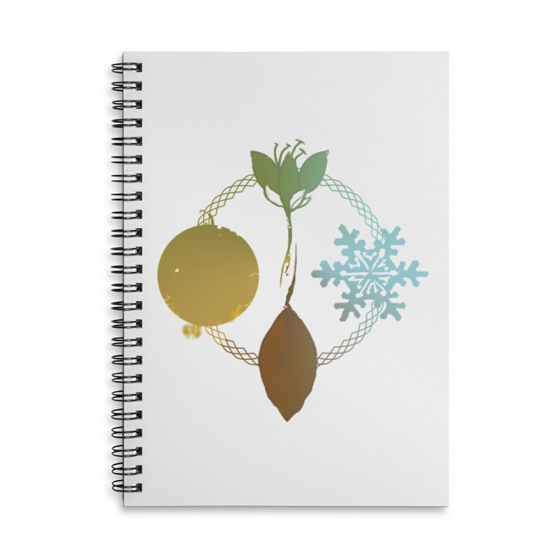 Tribes of the Seasons Accessories Lined Spiral Notebook by Dystopia Rising's Artist Shop