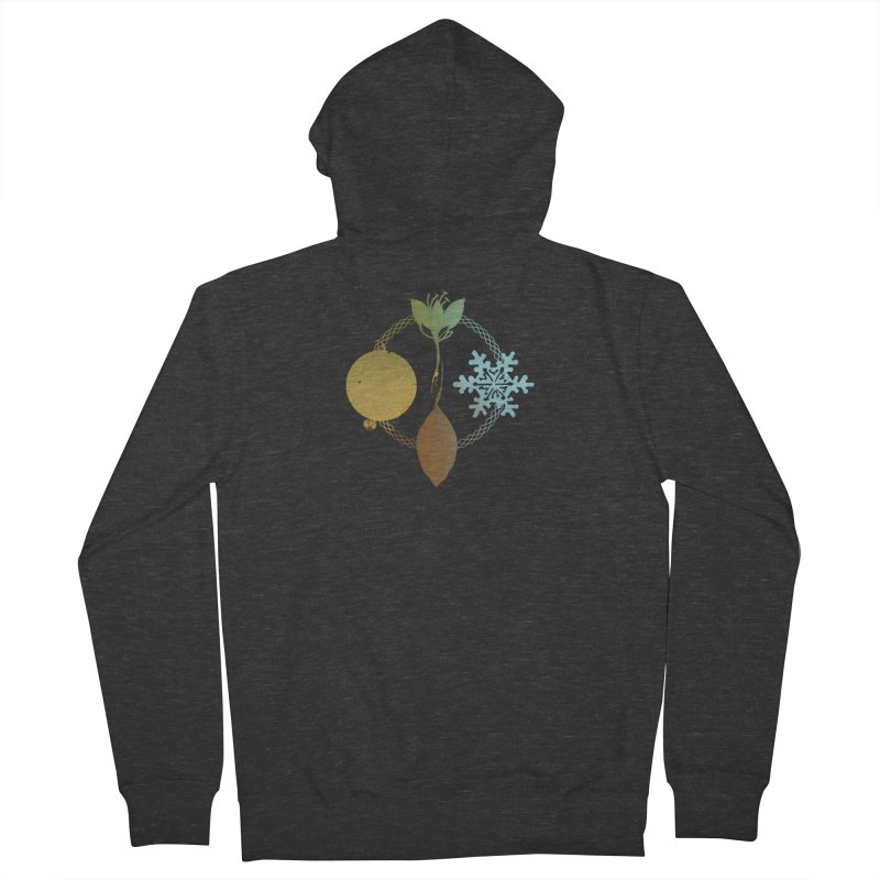 Tribes of the Seasons Women's French Terry Zip-Up Hoody by DystopiaRising's Artist Shop