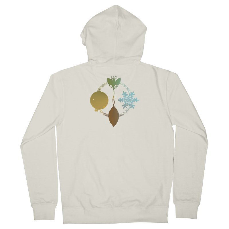 Tribes of the Seasons Men's French Terry Zip-Up Hoody by Dystopia Rising's Artist Shop