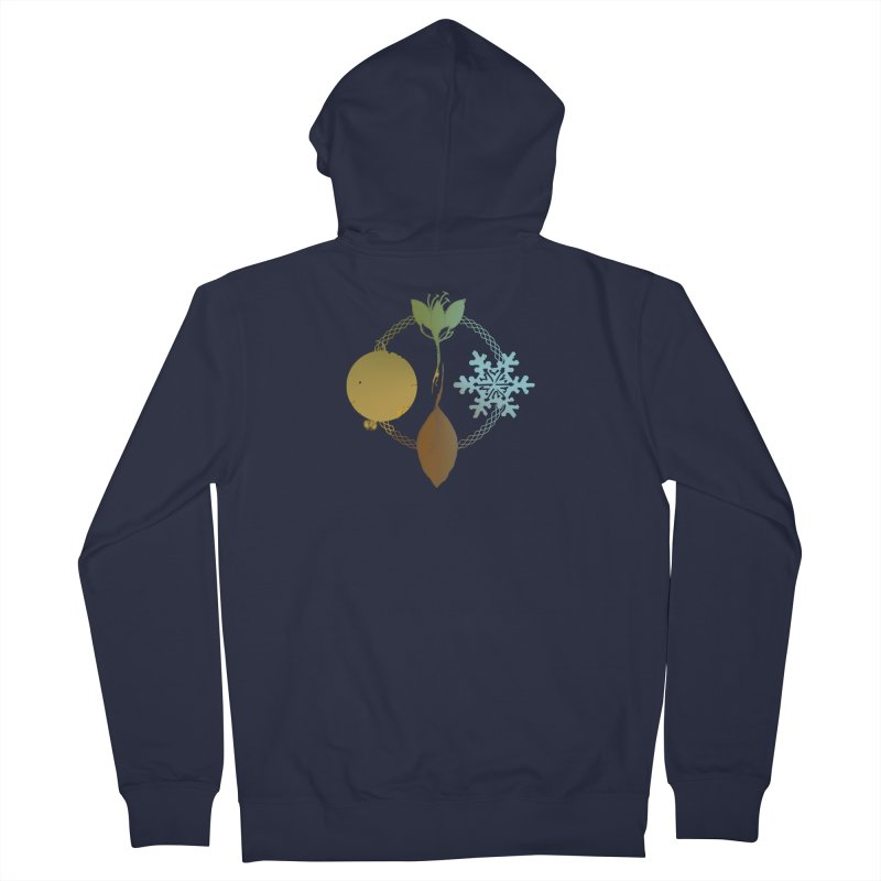 Tribes of the Seasons Men's French Terry Zip-Up Hoody by DystopiaRising's Artist Shop