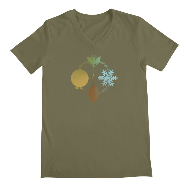 Tribes of the Seasons Men's Regular V-Neck by Dystopia Rising's Artist Shop