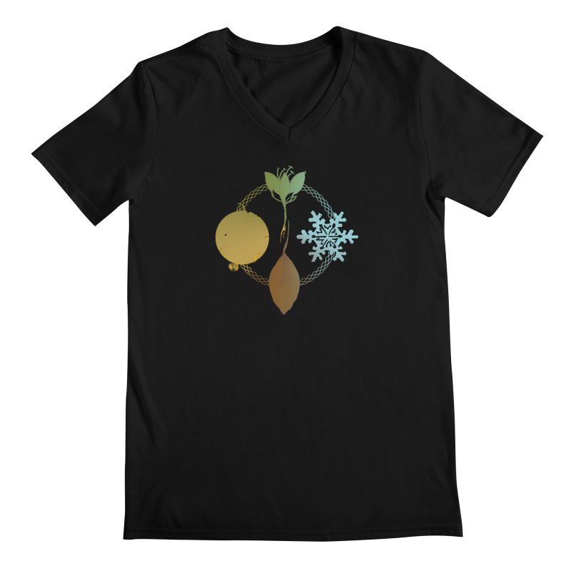 Tribes of the Seasons Men's Regular V-Neck by DystopiaRising's Artist Shop