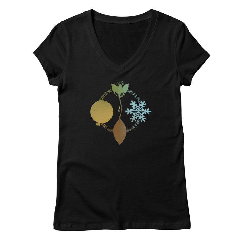 Tribes of the Seasons Women's Regular V-Neck by Dystopia Rising's Artist Shop