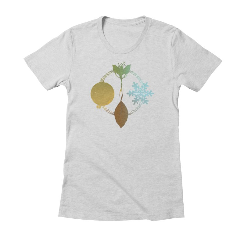 Tribes of the Seasons Women's Fitted T-Shirt by Dystopia Rising's Artist Shop