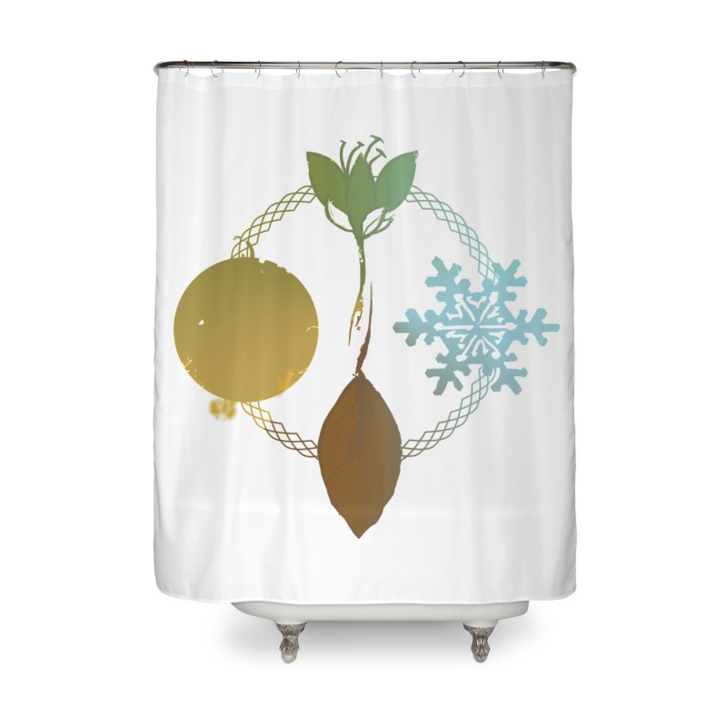 Tribes of the Seasons Home Shower Curtain by Dystopia Rising's Artist Shop