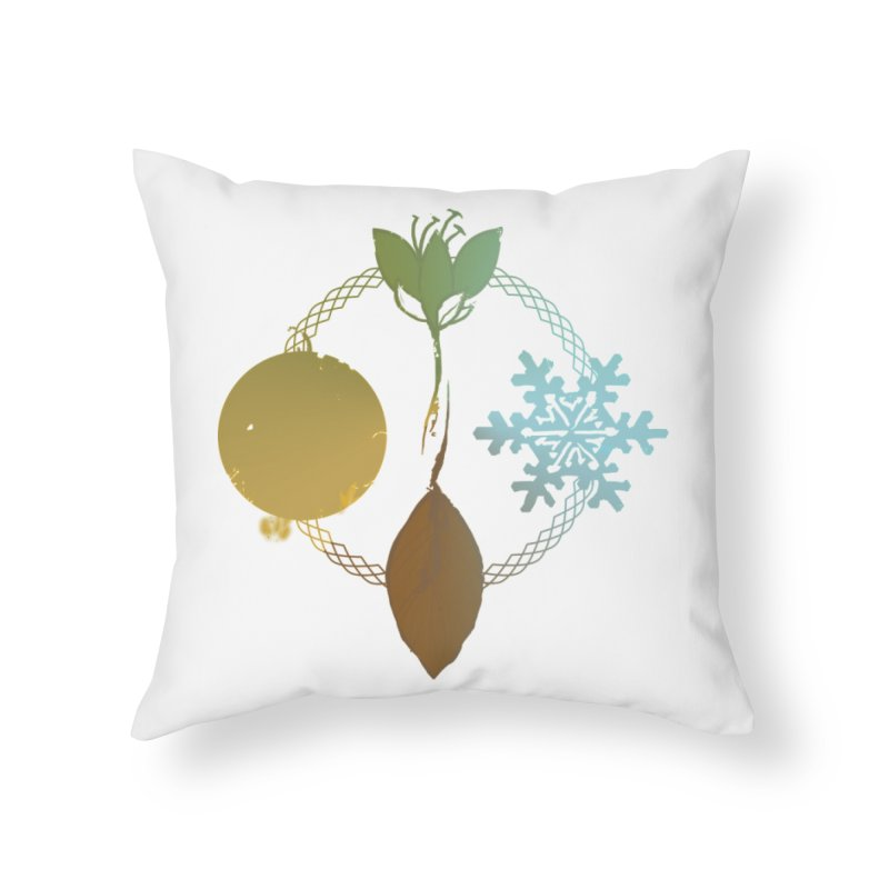 Tribes of the Seasons Home Throw Pillow by Dystopia Rising's Artist Shop
