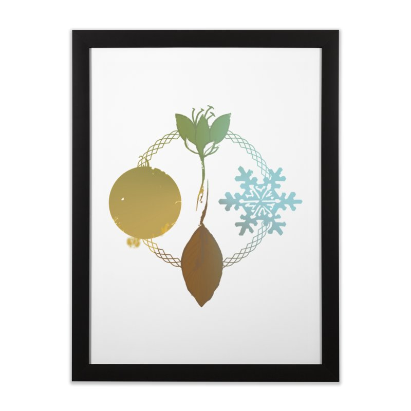 Tribes of the Seasons Home Framed Fine Art Print by Dystopia Rising's Artist Shop