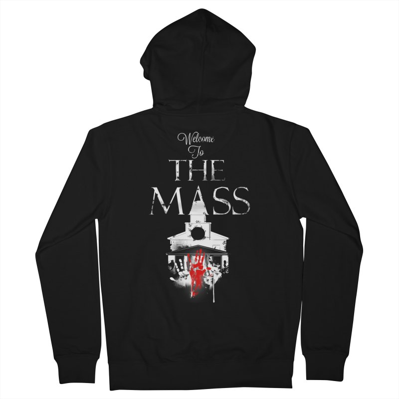 Massachusetts - The Grove Men's French Terry Zip-Up Hoody by Dystopia Rising's Artist Shop