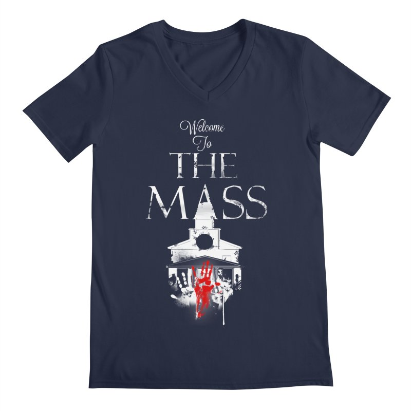 Massachusetts - The Grove Men's Regular V-Neck by Dystopia Rising's Artist Shop