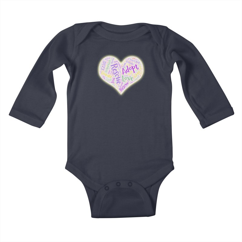 Rescue Heart Kids Baby Longsleeve Bodysuit by East Alabama Humane Society's Shop