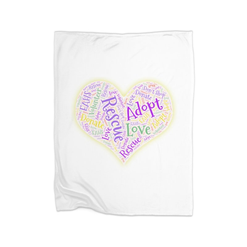 Rescue Heart Home Blanket by East Alabama Humane Society's Shop