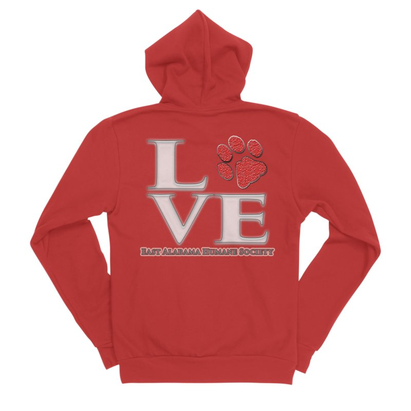 LOVE Men's Zip-Up Hoody by East Alabama Humane Society's Shop