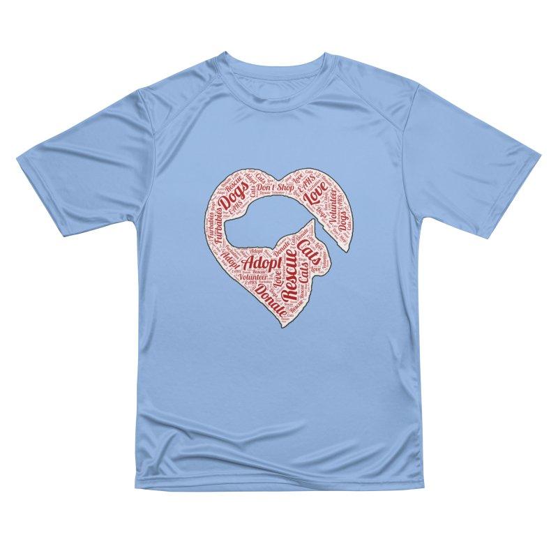 Heart Dog & Cat Men's T-Shirt by East Alabama Humane Society's Shop
