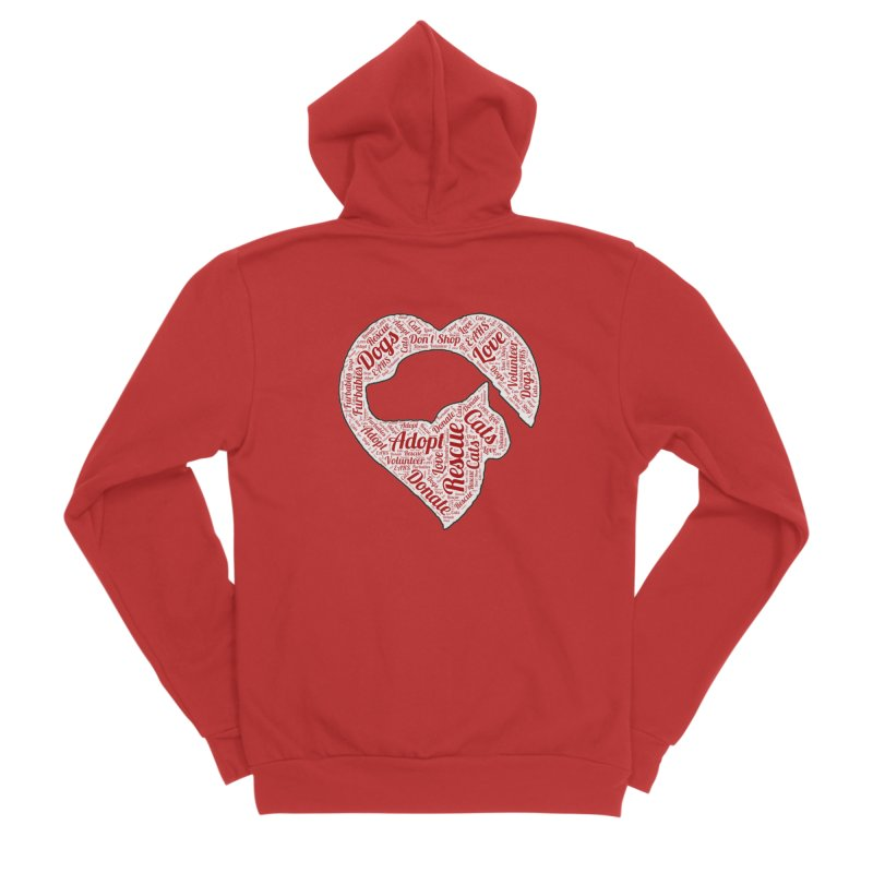 Heart Dog & Cat Men's Zip-Up Hoody by East Alabama Humane Society's Shop
