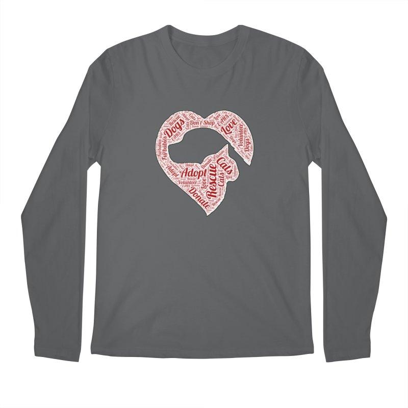 Heart Dog & Cat Men's Longsleeve T-Shirt by East Alabama Humane Society's Shop
