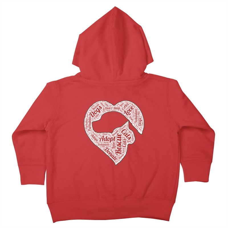Heart Dog & Cat Kids Toddler Zip-Up Hoody by East Alabama Humane Society's Shop