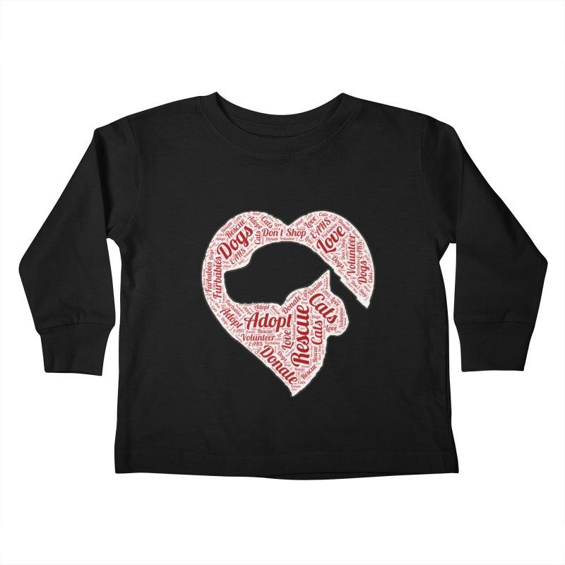 Heart Dog & Cat Kids Toddler Longsleeve T-Shirt by East Alabama Humane Society's Shop