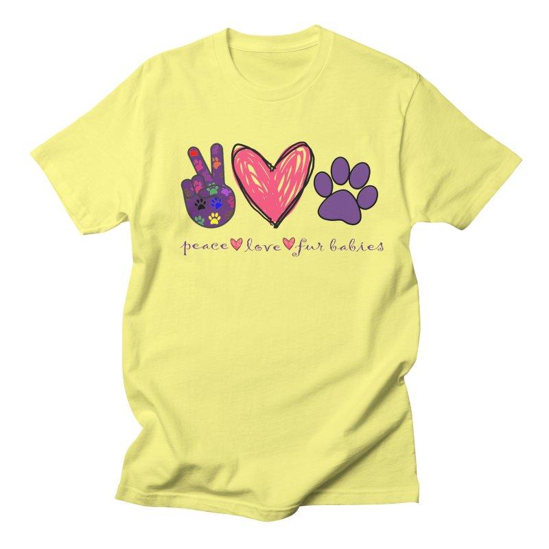 Peace Love Furbabies Men's T-Shirt by East Alabama Humane Society's Shop
