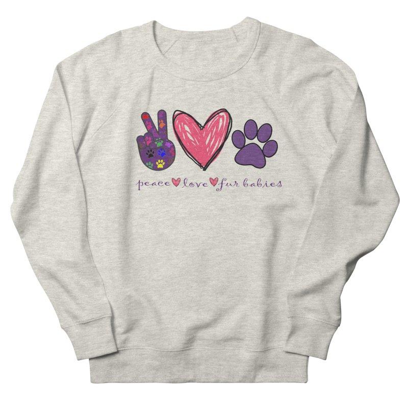 Peace Love Furbabies Men's Sweatshirt by East Alabama Humane Society's Shop