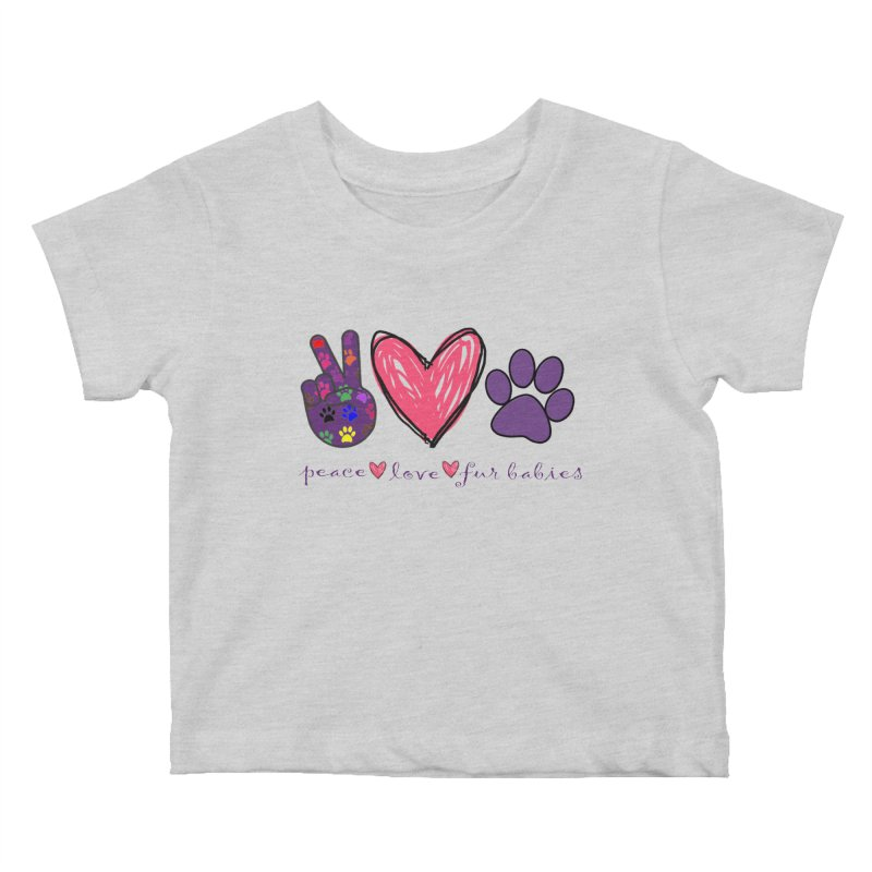 Peace Love Furbabies Kids Baby T-Shirt by East Alabama Humane Society's Shop