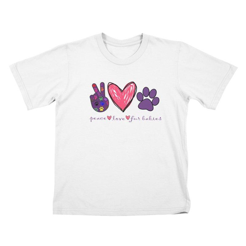 Peace Love Furbabies Kids T-Shirt by East Alabama Humane Society's Shop