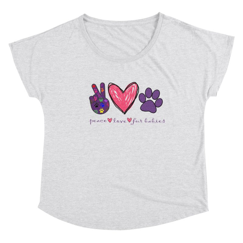 Peace Love Furbabies Women's Scoop Neck by East Alabama Humane Society's Shop