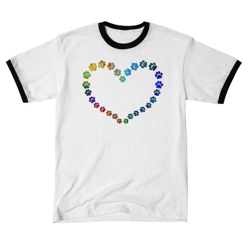 Paw Prints Heart Women's T-Shirt by East Alabama Humane Society's Shop