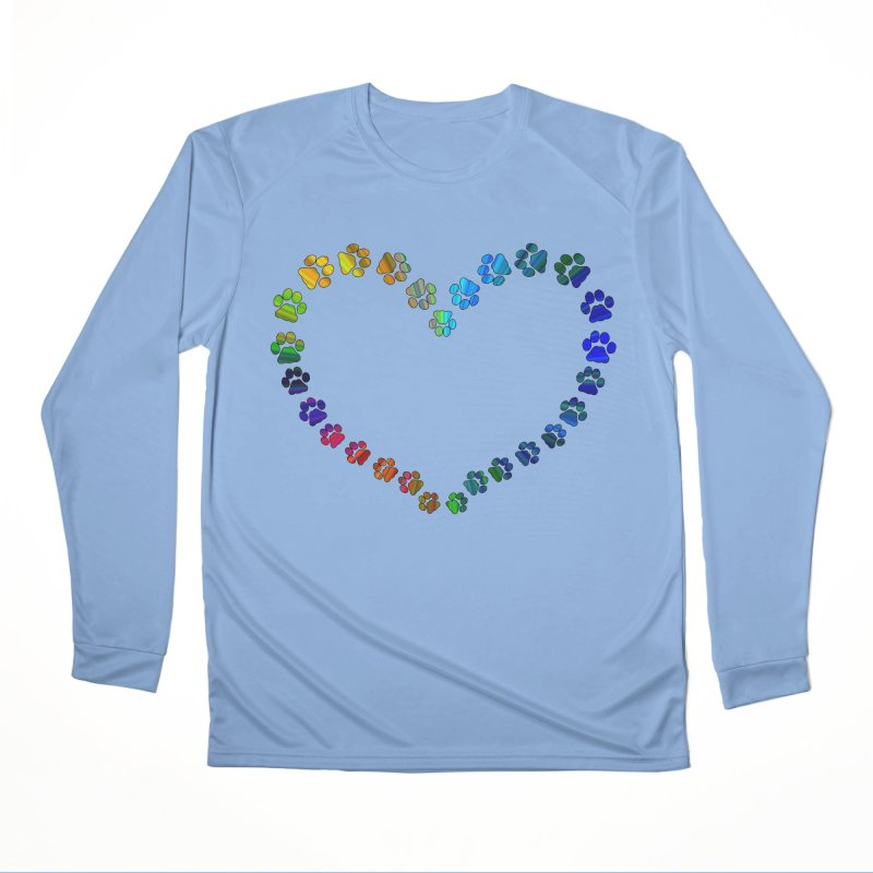 Paw Prints Heart Men's Longsleeve T-Shirt by East Alabama Humane Society's Shop