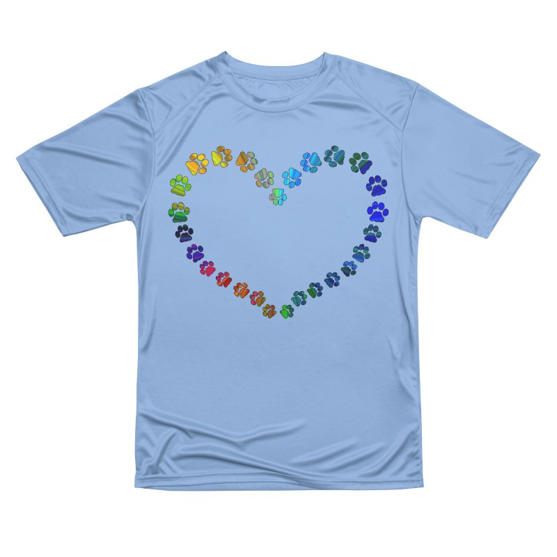 Paw Prints Heart Men's T-Shirt by East Alabama Humane Society's Shop