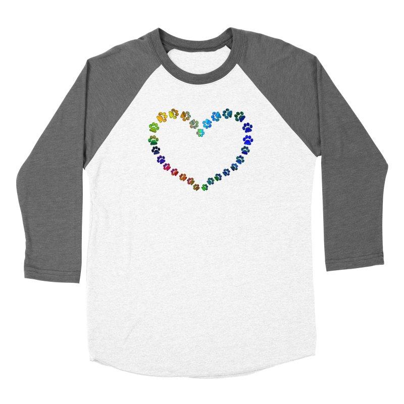 Paw Prints Heart Women's Longsleeve T-Shirt by East Alabama Humane Society's Shop