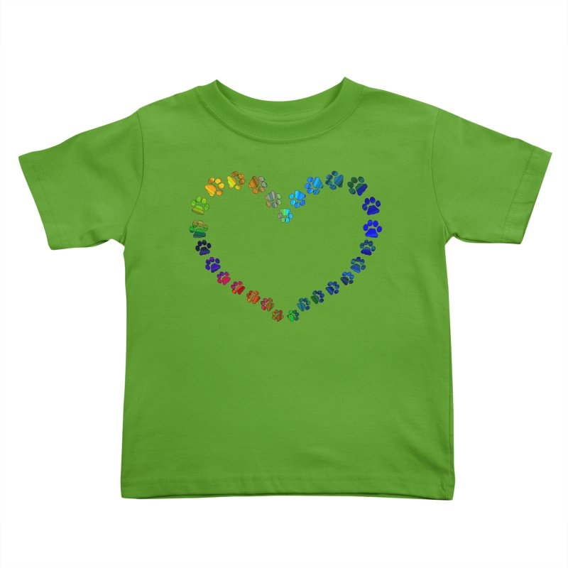Paw Prints Heart Kids Toddler T-Shirt by East Alabama Humane Society's Shop