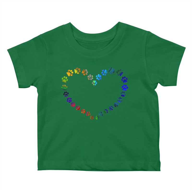 Paw Prints Heart Kids Baby T-Shirt by East Alabama Humane Society's Shop
