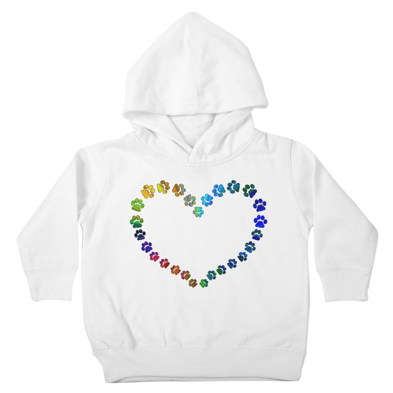 Paw Prints Heart Kids Toddler Pullover Hoody by East Alabama Humane Society's Shop