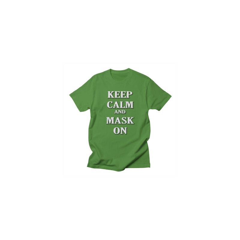 Keep Calm & Mask On Men's Longsleeve T-Shirt by East Alabama Humane Society's Shop