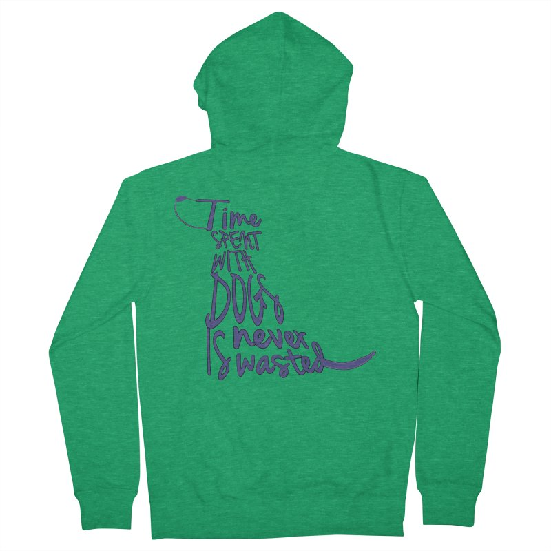 Time Spent with Dogs is Never Wasted Men's Zip-Up Hoody by East Alabama Humane Society's Shop