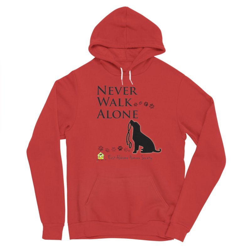 Never Walk Alone Men's Pullover Hoody by East Alabama Humane Society's Shop