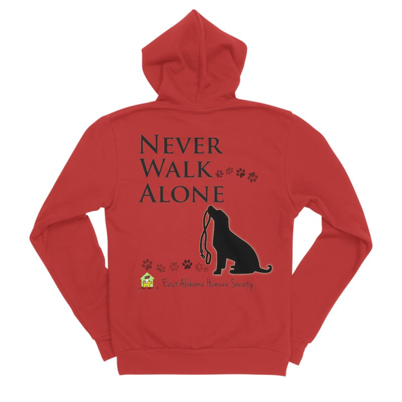 Never Walk Alone Men's Zip-Up Hoody by East Alabama Humane Society's Shop