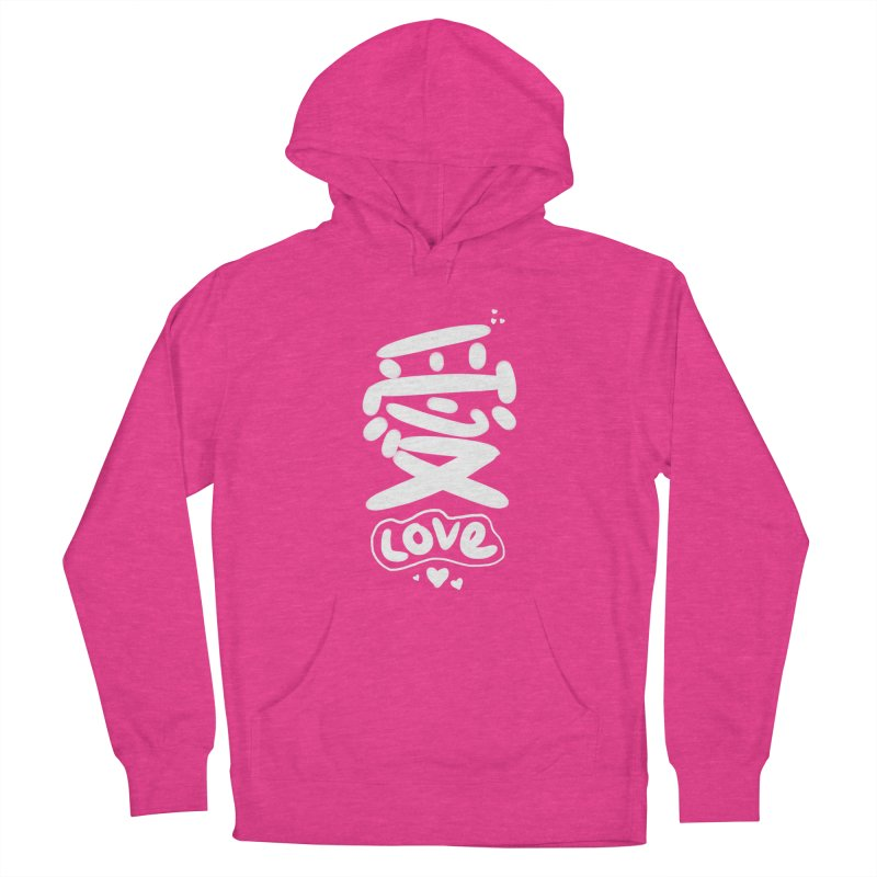 love_愛 Men's French Terry Pullover Hoody by EDINCLISM's Artist Shop