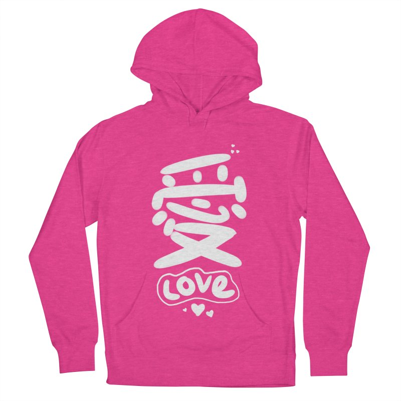 love_愛 Women's French Terry Pullover Hoody by EDINCLISM's Artist Shop